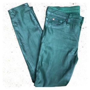 Hudson Nico Super Skinny Midrise Dark Green Jeans